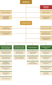 Procurement Department Organization Chart Organizational Chart About Ministry Ministry Of Energy