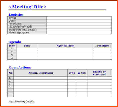 Minutes Of The Meeting Template Word 7 Meeting Minutes Template Word Survey Template Words