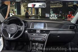 kia optima 2016 interior. 2016 kia optima dashboard interior at iaa 2015