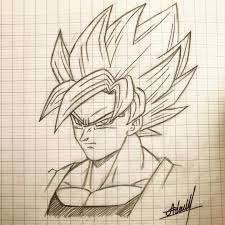 Dessin De Goku Ssj Sketch Goku Songoku Gokussj Anime