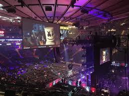 Madison Square Garden Section 214 Row 4 Seat 16 Tour
