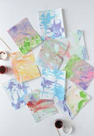 learn how to make this shaving cream marbled paper on aliceandlois com