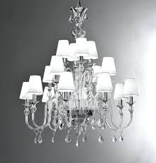 full image for wood rectangular chandelier modern murano chandelier with clear glass and white lampshades crystal