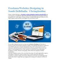 Web Designers In Delhi Freelance Freelance Websites Designing In South Delhi India By
