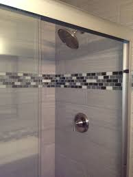 glass accent wall tile in shower stunning beveled pertaining to with regard prepare 1