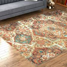 orange and green area rug orange and brown area rug kaleidoscope beige orange area rug brown