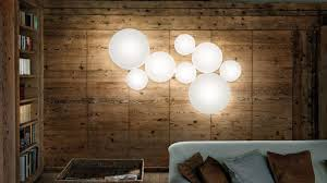 studio italia lighting. makeup modular fixtures made of blown glass which enclose an led heart studio italia lighting