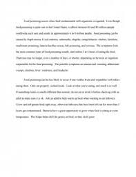 food poisoning research paper similar essays