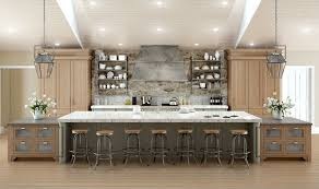Captivating Massive Galley Kitchen With Full Width Island With Seating For 7 People.