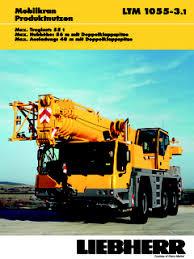 Liebherr Ltm 1055 3 1 Specifications Cranemarket