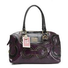 Coach Big C Signature Medium Purple Luggage Bags EIS