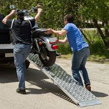 Big Boy EZ Rizer Aluminum Folding Single Runner Motorcycle Ramp - 8 ...