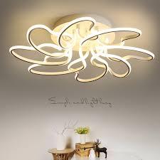 aluminum modern led ceiling chandelier lights for living room bedroom lamparas de techo acrylic ceiling chandelier lamp fixtures