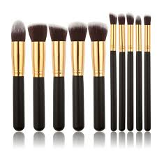 guj style master makeup brushes set best kabuki cosmetic foundation powder kit gold black cool