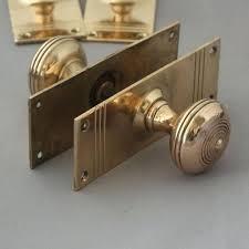 1920s door knobs reclaimed brass door knobs 1920s crystal door knobs