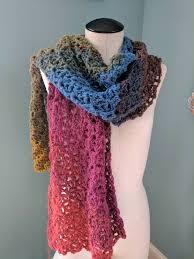 Lion Brand Mandala Yarn Patterns Extraordinary An Extra Wide Scarf In Lion Brand Mandala Chimera Crochet
