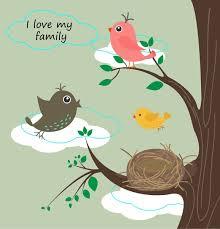birds family background ilration
