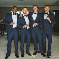 navy suit wedding. 2018 Men Suits Navy Blue Custom Made Wedding Suits For Man