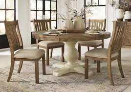 grindleburg light brown 5 pc round dining set
