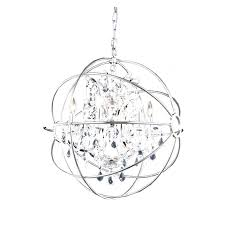brushed nickel crystal orb 6 light chandelier nickel orb chandelier dining room bedroom marvelous small wood