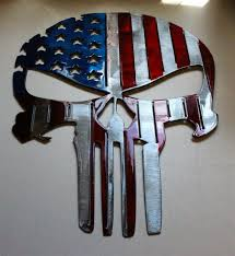 american flag punisher skull metal wall art 16 tall x 11 1 2 wide on american eagle metal wall art with email