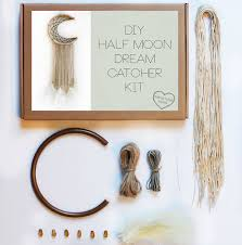make your own dream by dream catcher making kit diy half moon dream catcher kit by making things happen