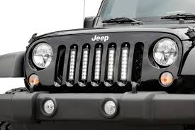Jeep Grill With Light Bar Rough Country 8in Led Light Bar Vertical Grille Mount Kit For 07 18 Jeep Wrangler Jk
