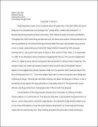 drug war in final essay rough draft amst melanie  this preview has intentionally blurred sections sign up to view the full version