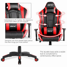 computer chair no arms best of merax racing gaming chair high back desk chair ergonomic