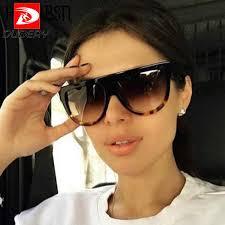 DUBERY <b>Cool</b> Big Square <b>Rhinestone Sunglasses</b> Women Brand ...
