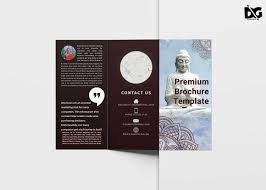 Templates For Brochures Free Download Free Download Buddha Tri Fold Brochure Template Free Psd