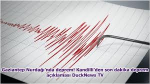 Gaziantep Nurdağı'nda deprem! Kandilli'den son dakika deprem açıklaması  DuckNews TV - YouTube