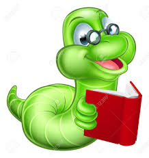 cute smiling green cartoon caterpillar worm bookworm with gles reading a book stock vector 45912958