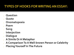 good hook in an essay a good hook in an essay