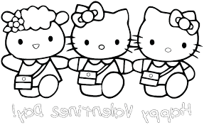 Free Hello Kitty Coloring Pages Edwardparra Co