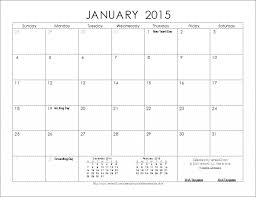 Excel Calendar Template 2015 Unique 2015 Calendar Template Microsoft