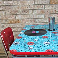 Refinish Kitchen Table Top How To Refinish A Table With Fabric And Resin