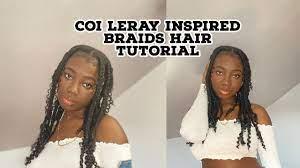 Coi Leray knotless braids Hair Tutorial ...