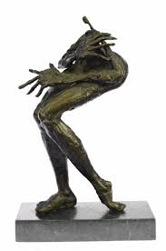 google modern office sculpture. Ebay Head Office. Image Is Loading Handcrafted-bronze-sculpture-4-100 Google Modern Office Sculpture
