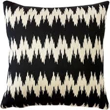 black and cream pillows. Wonderful Black Ikat Stripes Black And Cream Throw Pillow 17x17 For And Pillows L