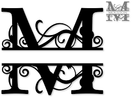 fancy letter m letter m monogram clipart clipartxtras