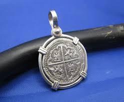 1 reale pirate spanish shipwreck coin replica pendant