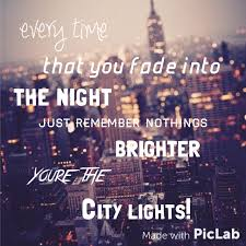 City Of Lights Song Lyrics Typography Done By Ebony Fothergill We It
