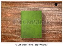school desk top view. Simple View Vintage School Desk Top With Closed Blank Book  Csp19996453 For View L