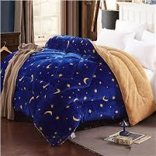 home goods quilts - Beddinginn.com & 57 Stars and Moon Legend Blue Flannel and Berber Fleece Winter Quilts Adamdwight.com