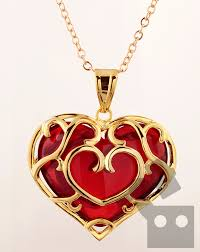 legend of zelda skyward sword heart necklace pendant