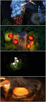 diy garden lighting glowing mushroom design ideas diy garden lighting how to make amazing