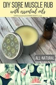 diy sore muscle rub w essential oils all natural deep