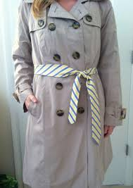 trench coat replace belt ideas