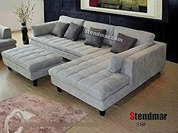 modern sectional sofas microfiber. Plain Modern 3pc New Modern Gray Microfiber Sectional Sofa S168RG For Sofas P